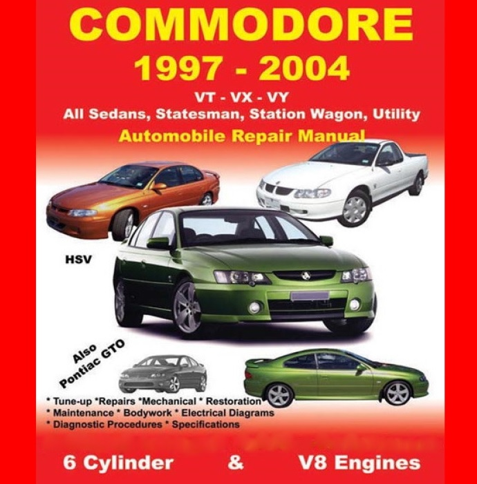 holden commodore vt service workshop manual