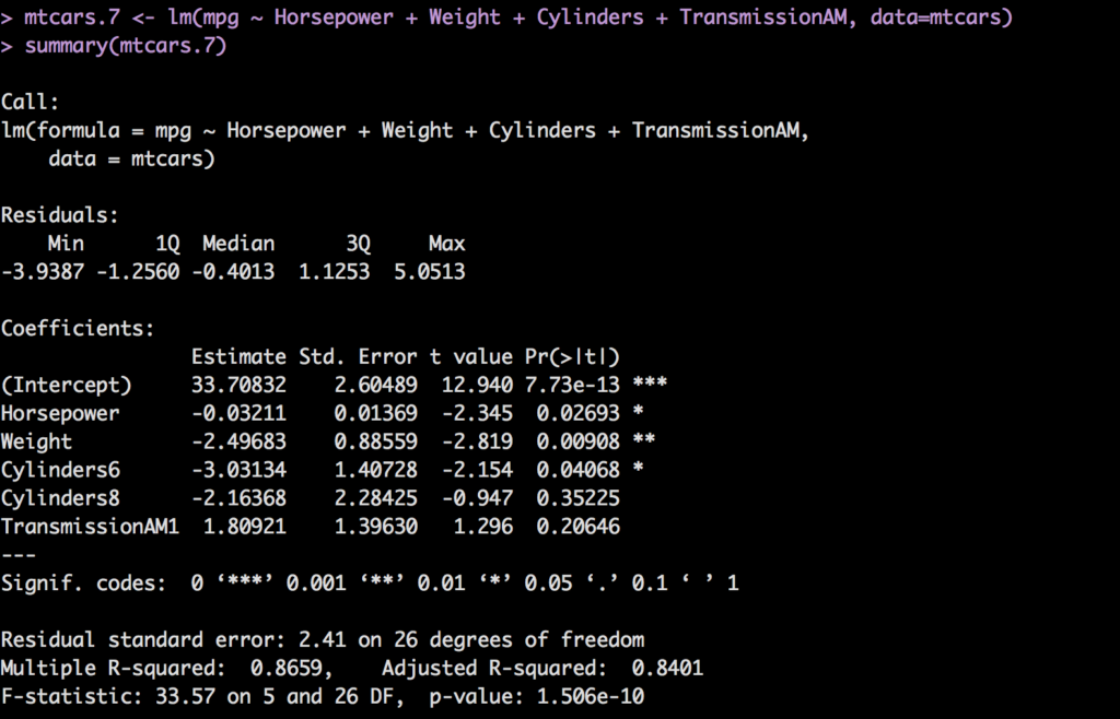 how to do multiple regression manually
