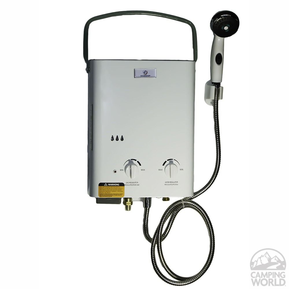 coleman camping water heater manual