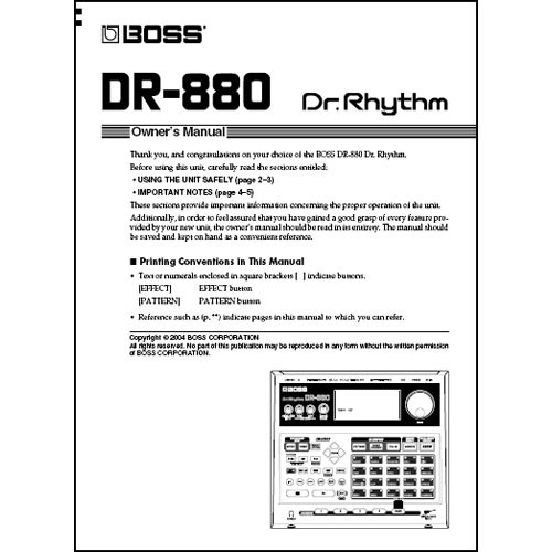 boss dr rhythm dr 3 owners manual