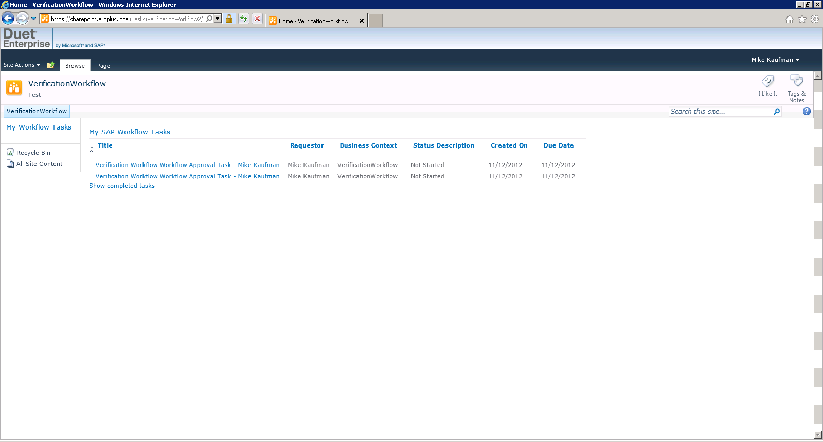 sharepoint workflow manually run how